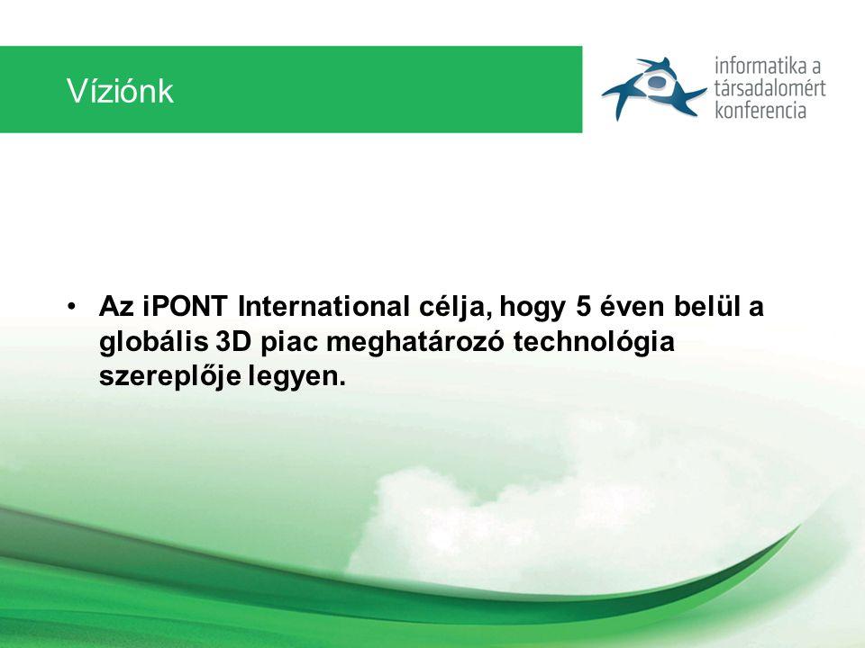 Víziónk Az iPONT International célja, hogy 5 éven belül a globális 3D piac meghatározó technológia szereplője legyen.