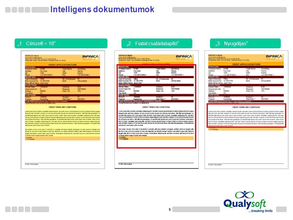 """8 Intelligens dokumentumok """"1: Címzett < 18 EIN Template nach Anwendung von 3 Regeln """"2: Fiatal családalapító """"3: Nyugdíjas"""