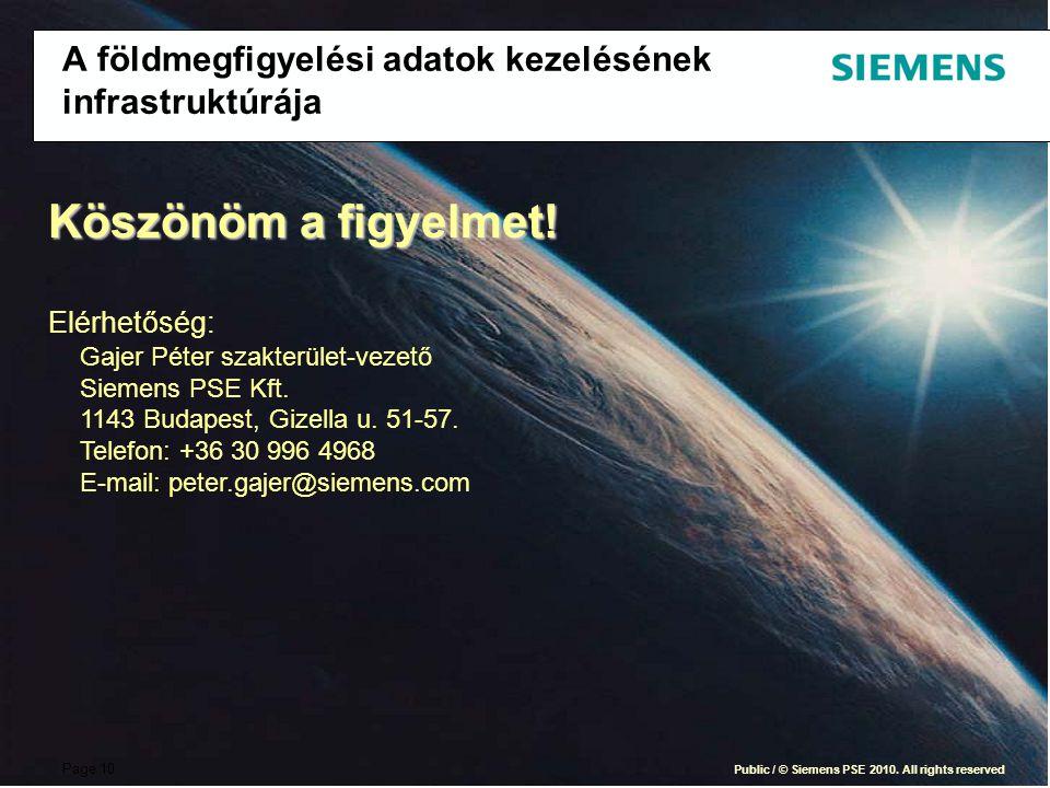 Page 10 Public / © Siemens PSE 2010.