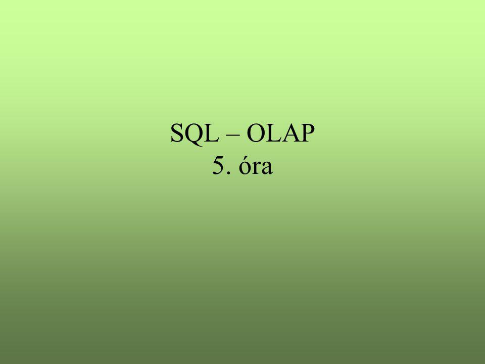 SQL – OLAP 5. óra