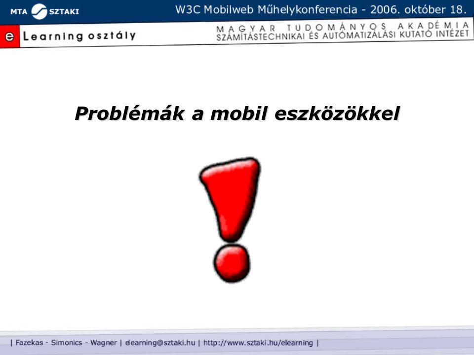 Problémák a mobil eszközökkel