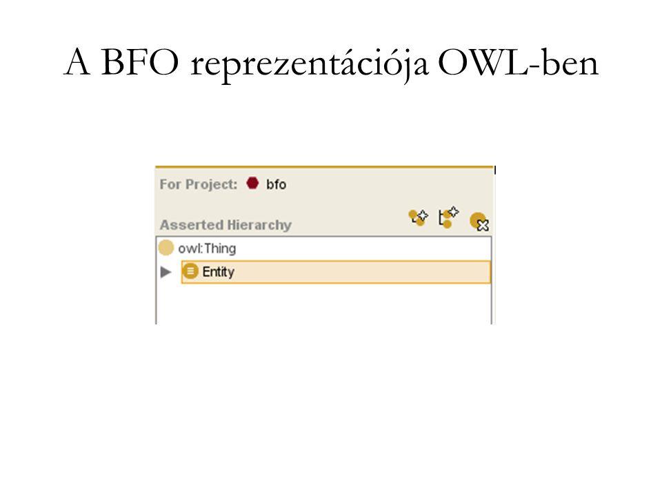 A BFO reprezentációja OWL-ben