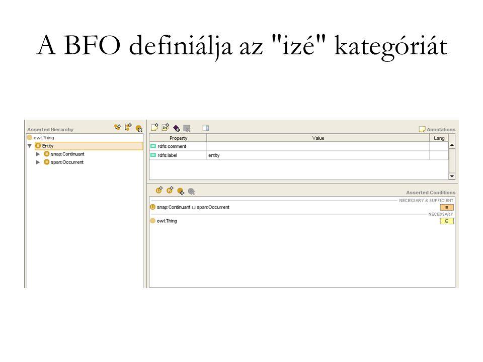 A BFO definiálja az izé kategóriát