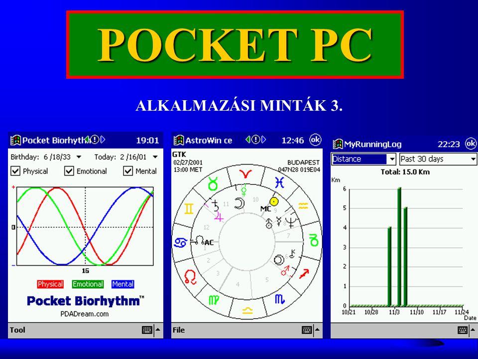 POCKET PC ALKALMAZÁSI MINTÁK 3.