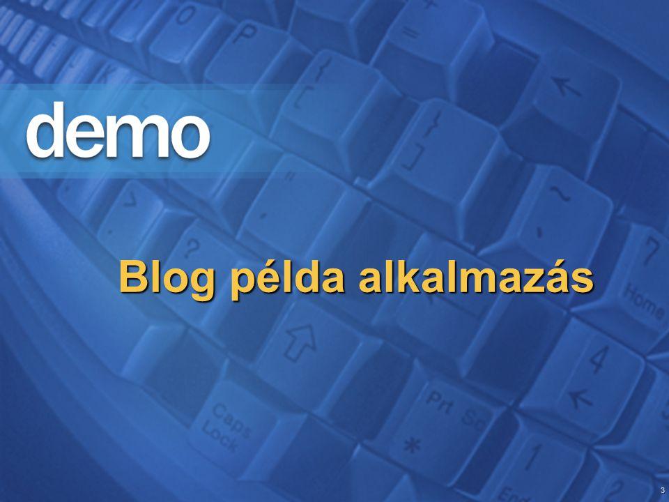 3 Blog példa alkalmazás