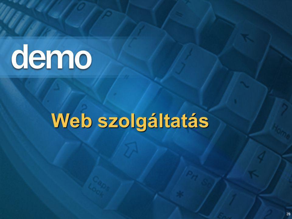 29 Web szolgáltatás