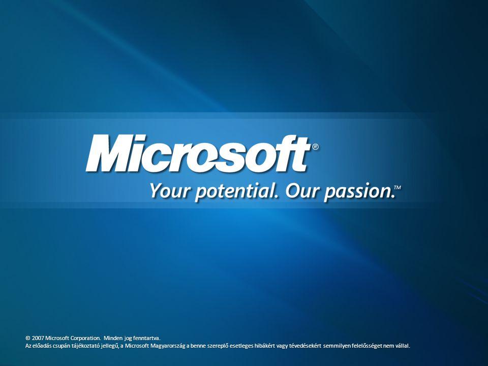 © 2007 Microsoft Corporation. Minden jog fenntartva.