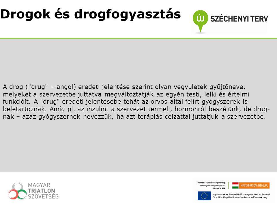 A drog szó magyar köznyelvi értelmezése ettől eltér.