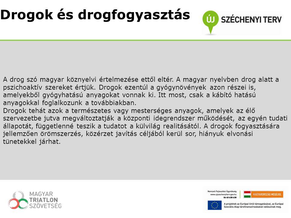 A drog szó magyar köznyelvi értelmezése ettől eltér. A magyar nyelvben drog alatt a pszichoaktív szereket értjük. Drogok ezentúl a gyógynövények azon