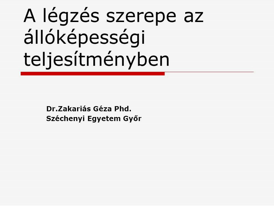 A légzés szerepe az állóképességi teljesítményben Dr.Zakariás Géza Phd. Széchenyi Egyetem Győr
