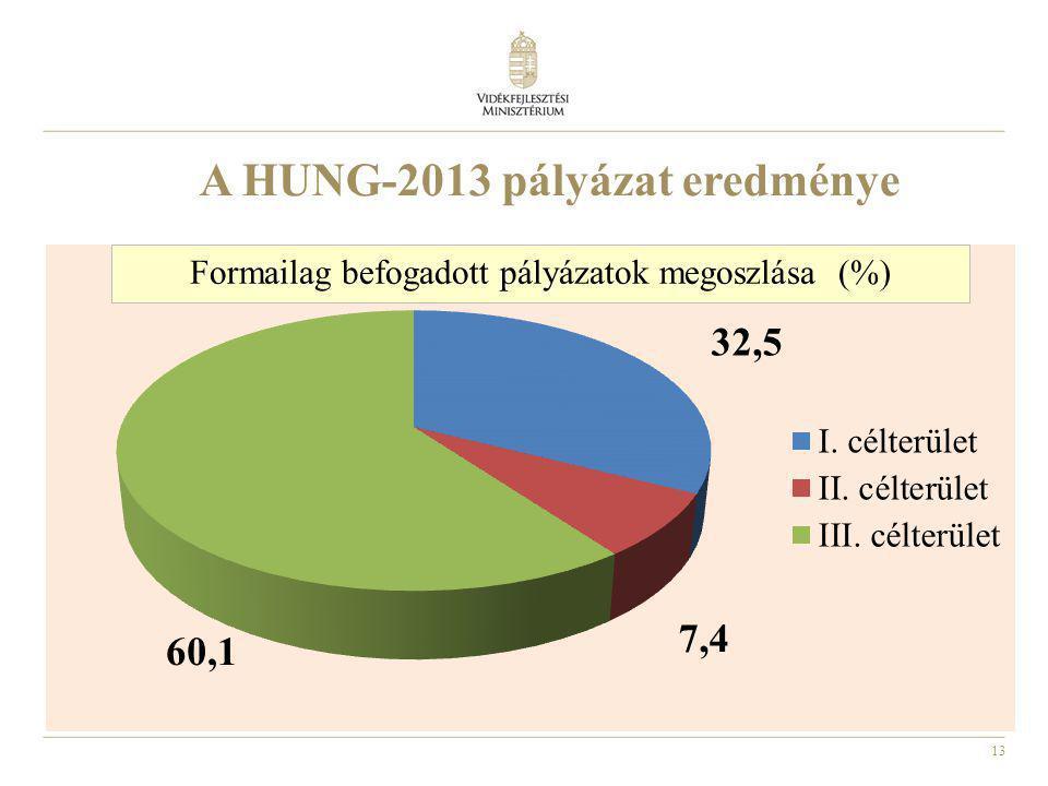 13 A HUNG-2013 pályázat eredménye