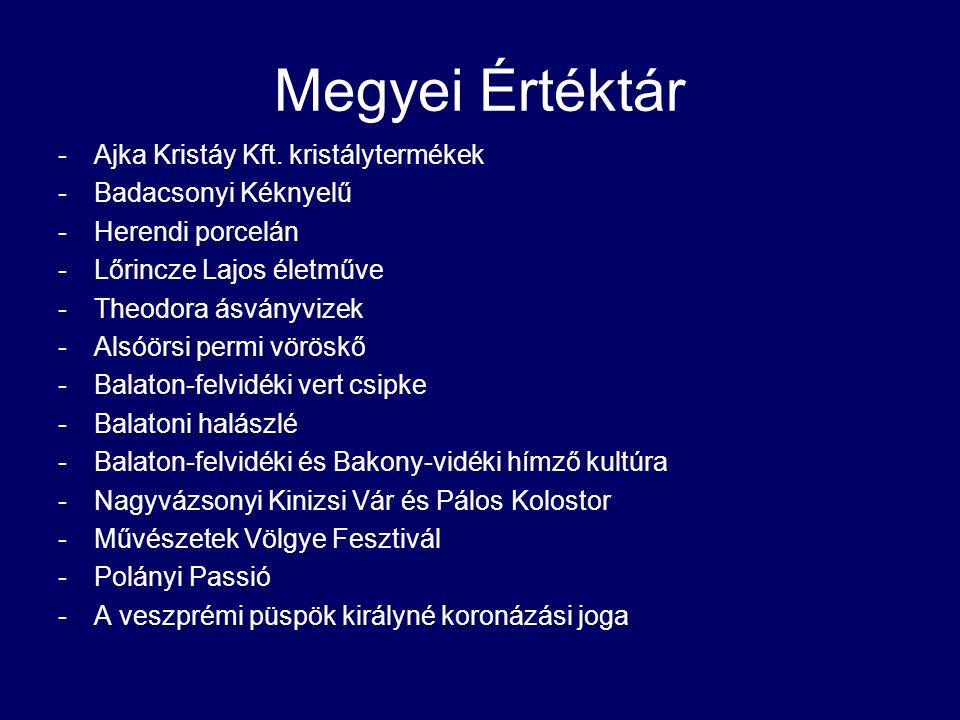 Megyei Értéktár -Ajka Kristáy Kft.
