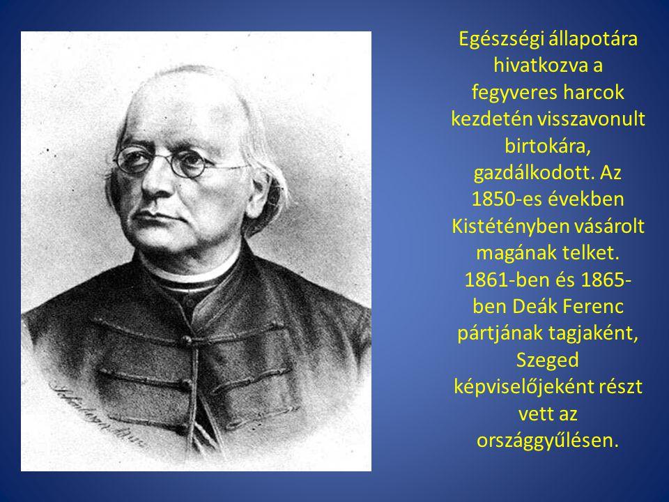 Kalocsán (több lexikon szerint Szegeden) hunyt el 1866.