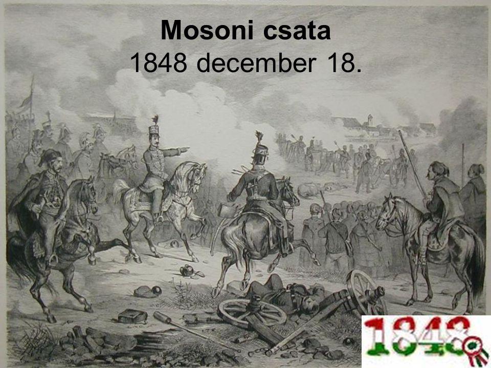 Mosoni csata 1848 december 18.