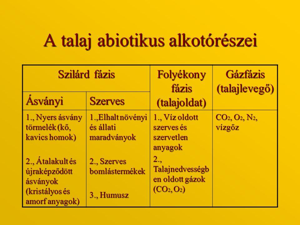 Térrácsos szilikátok a.Kvarc (SiO 2 ) b.