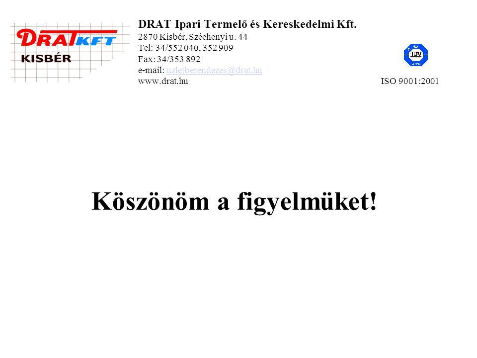 DRAT Ipari Termelő és Kereskedelmi Kft. 2870 Kisbér, Széchenyi u.