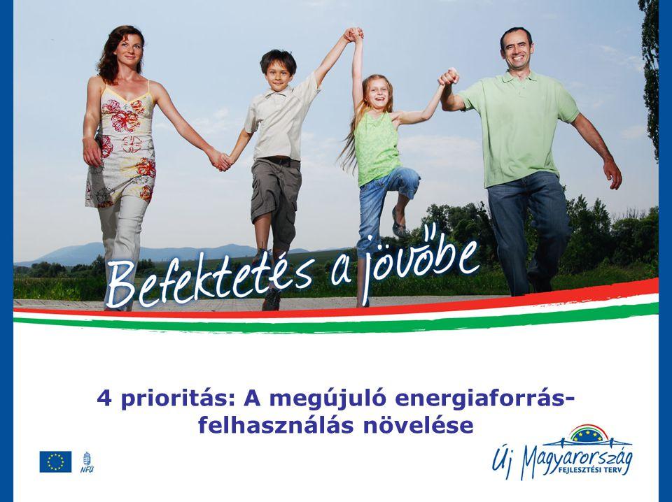 4 prioritás: A megújuló energiaforrás- felhasználás növelése