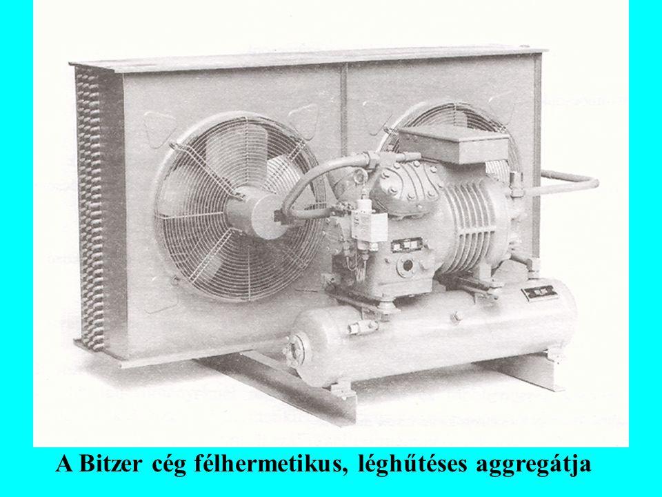 Kondenzációs nyomás szabályozásának egyéb módozatai: - Ventilátorok motorját egy nagynyomású presszosztáttal ki-be kapcsoltatjuk.