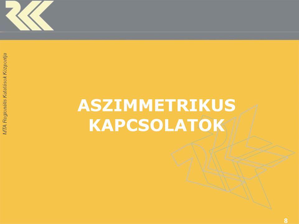 ASZIMMETRIKUS KAPCSOLATOK 8