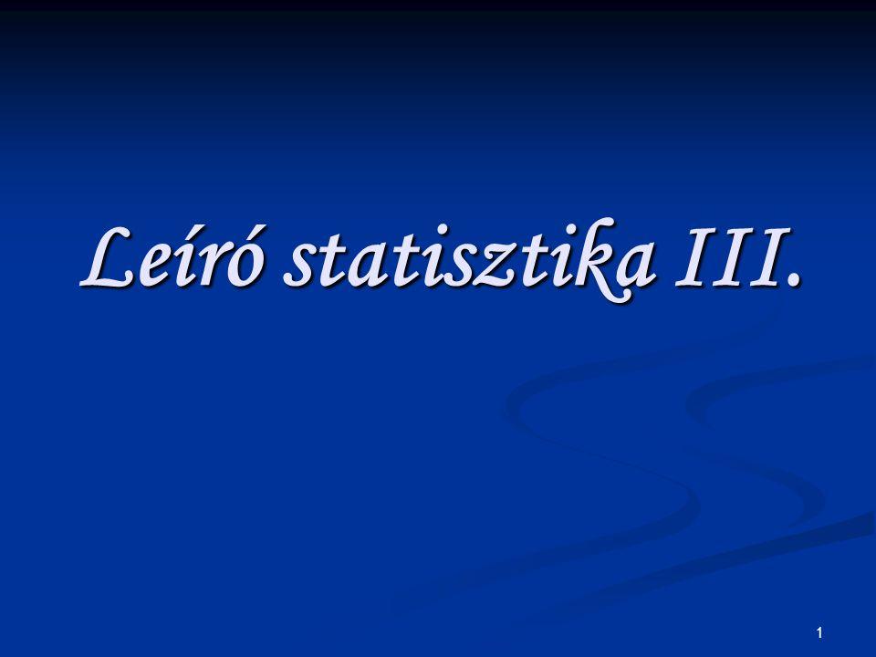 1 Leíró statisztika III.