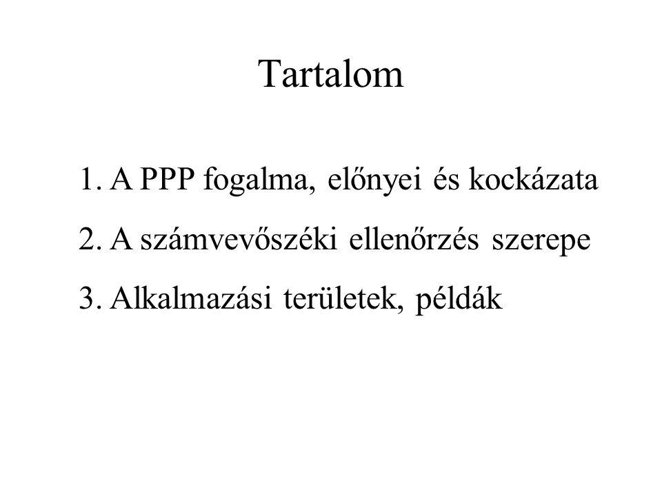 Tartalom 1. A PPP fogalma, előnyei és kockázata 2.