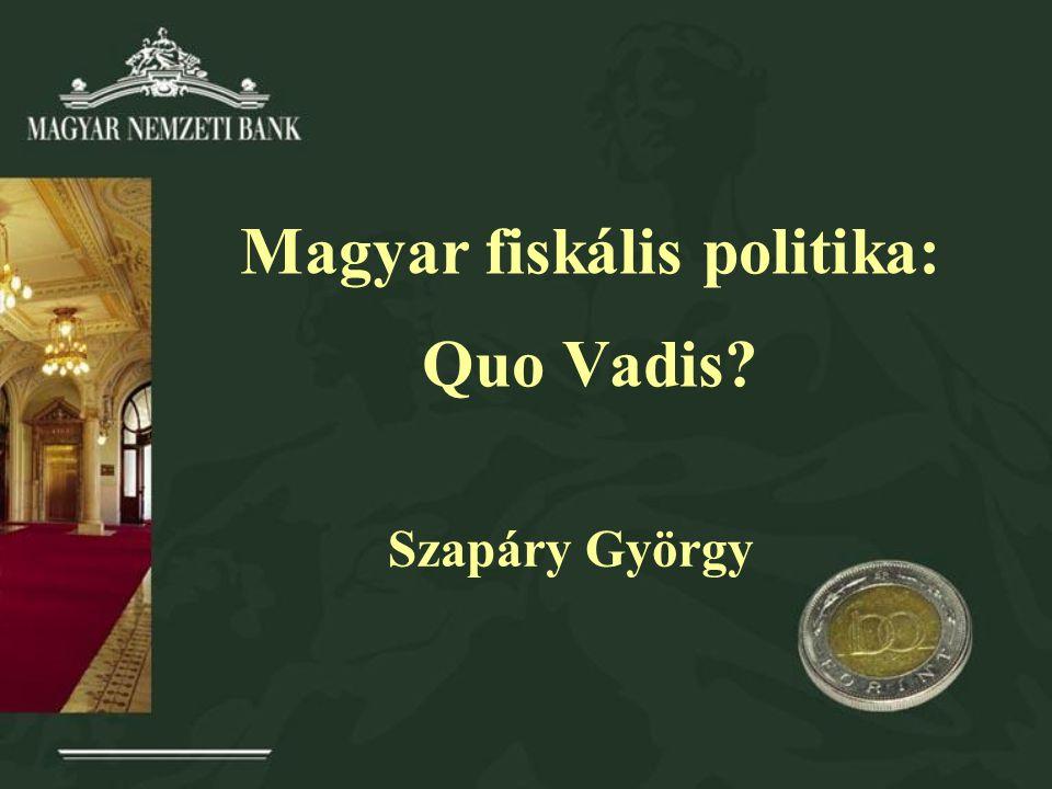 Magyar fiskális politika: Quo Vadis? Szapáry György
