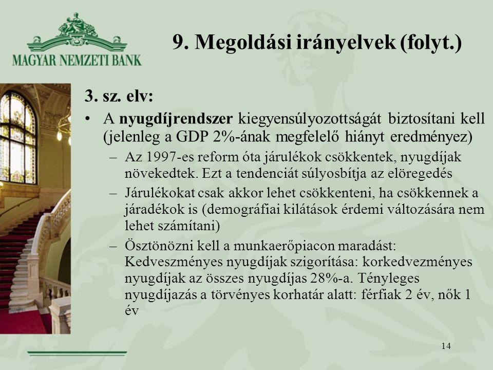 14 9. Megoldási irányelvek (folyt.) 3. sz.