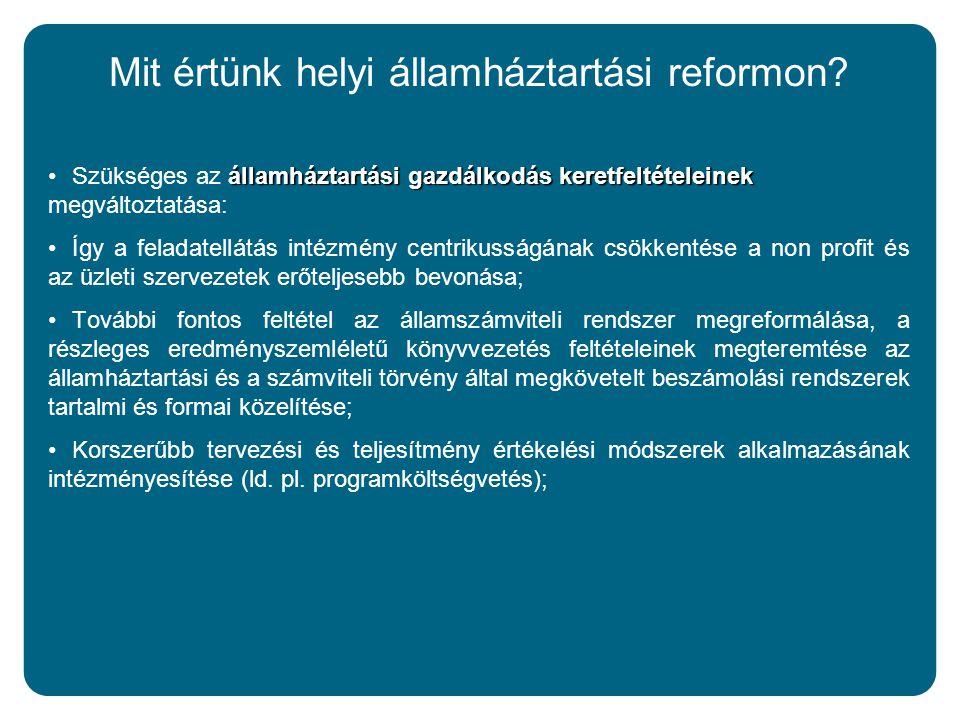 Mit értünk helyi államháztartási reformon.