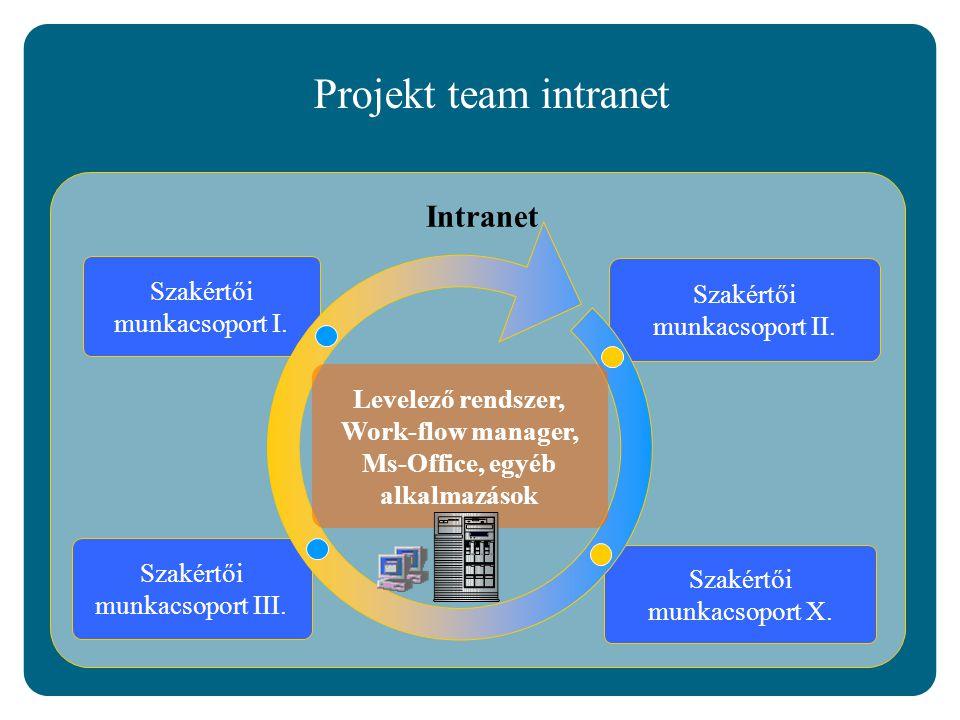 Intranet Projekt team intranet Szakértői munkacsoport II.