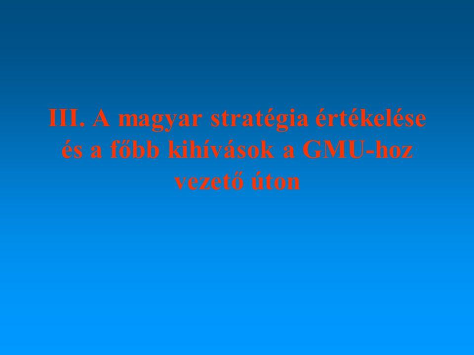III. A magyar stratégia értékelése és a főbb kihívások a GMU-hoz vezető úton