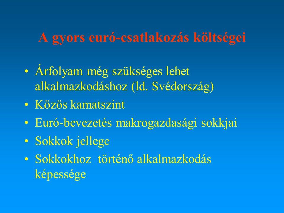 II. A KKE országok euró- csatlakozás stratégiája