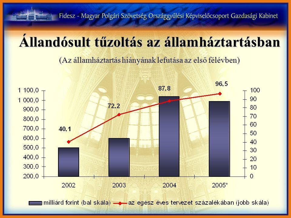 Állandósult tűzoltás az államháztartásban (Az államháztartás hiányának lefutása az első félévben)