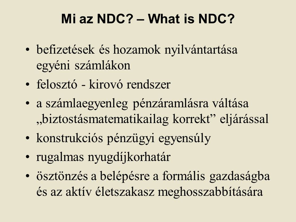 Mi az NDC. – What is NDC.