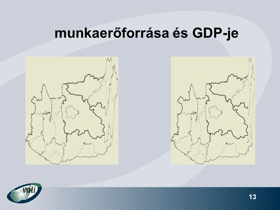 13 munkaerőforrása és GDP-je