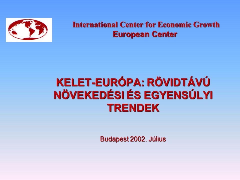 International Center for Economic Growth European Center International Center for Economic Growth European Center KELET-EURÓPA: RÖVIDTÁVÚ NÖVEKEDÉSI É