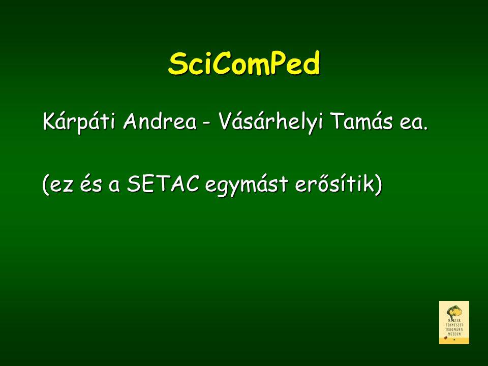 SciComPed Kárpáti Andrea - Vásárhelyi Tamás ea. (ez és a SETAC egymást erősítik)