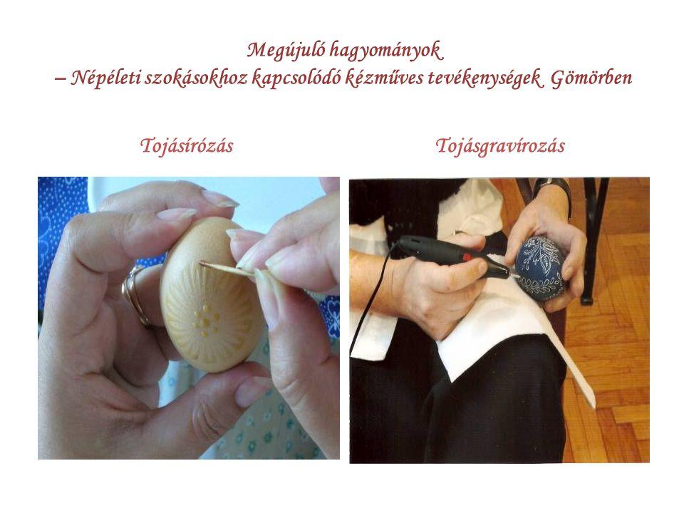 Megújuló hagyományok – Népéleti szokásokhoz kapcsolódó kézműves tevékenységek Gömörben TojásírózásTojásgravírozás
