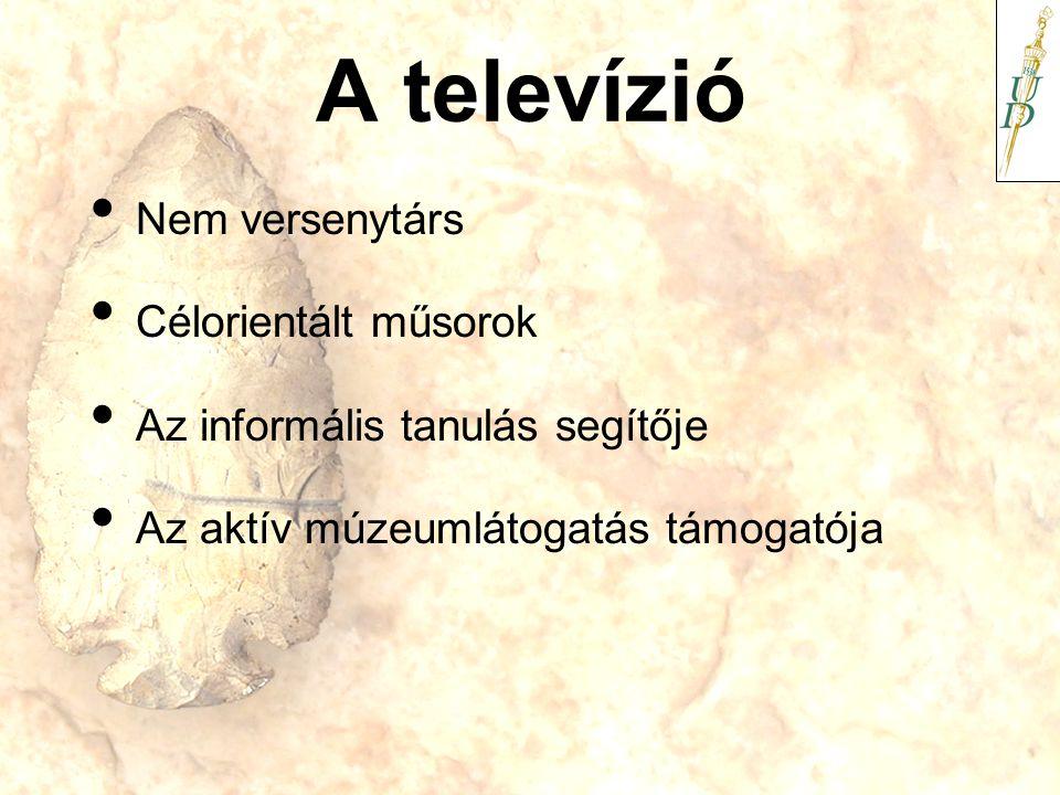 A televízió Nem versenytárs Célorientált műsorok Az informális tanulás segítője Az aktív múzeumlátogatás támogatója