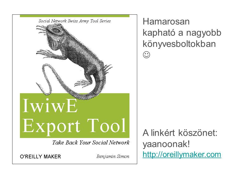 Hamarosan kapható a nagyobb könyvesboltokban A linkért köszönet: yaanoonak! http://oreillymaker.com