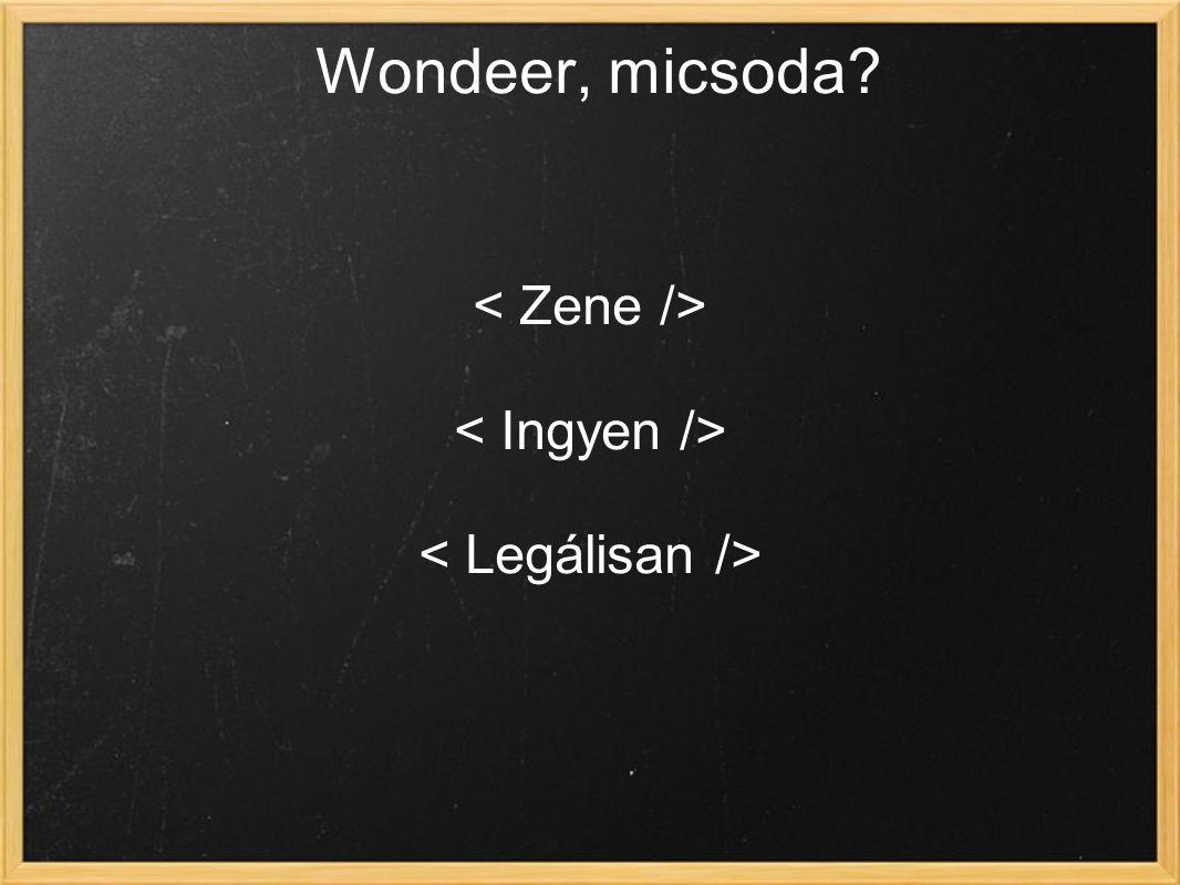 Wondeer, micsoda