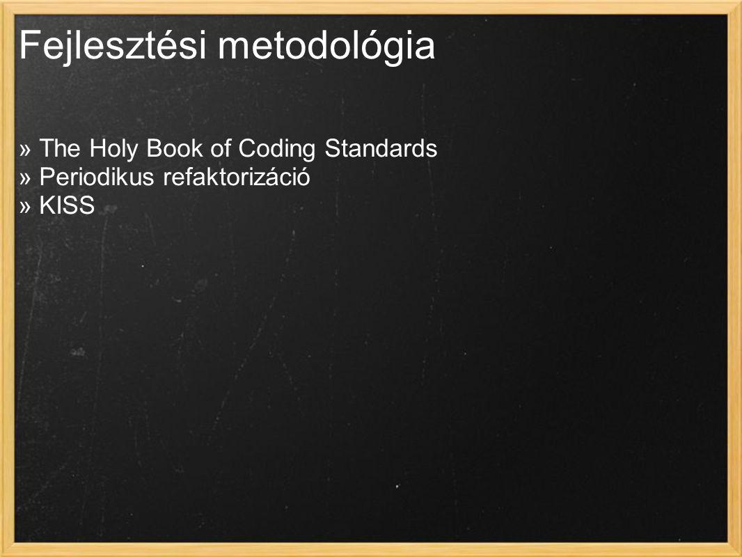 Fejlesztési metodológia » The Holy Book of Coding Standards » Periodikus refaktorizáció » KISS