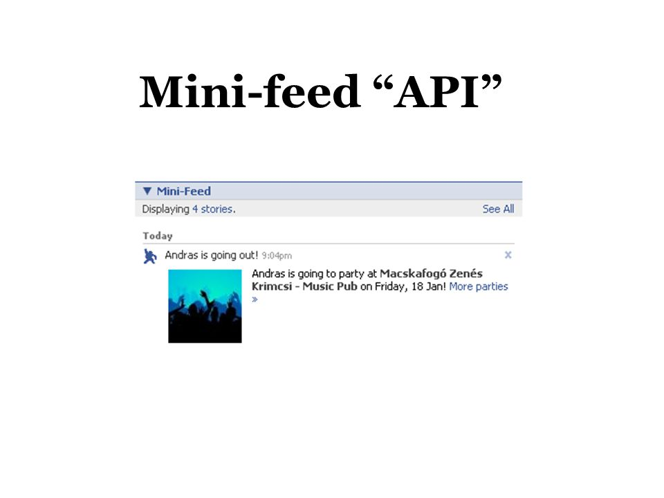 Mini-feed API