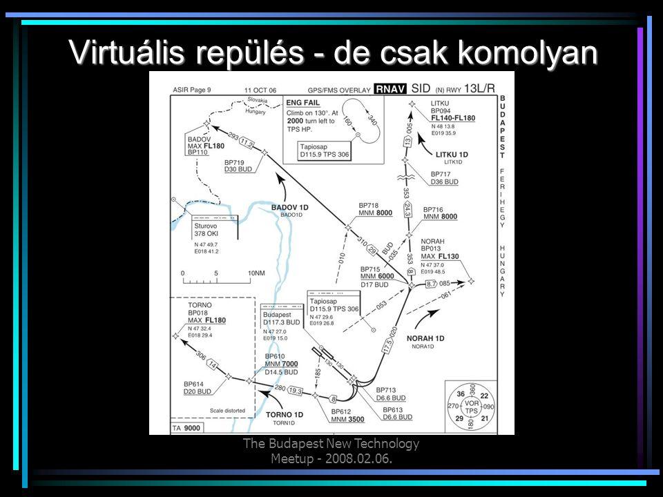 The Budapest New Technology Meetup - 2008.02.06. Virtuális repülés - de csak komolyan