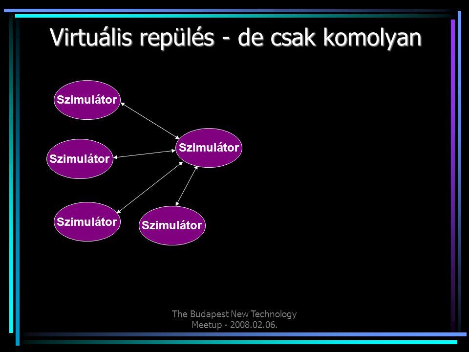 The Budapest New Technology Meetup - 2008.02.06. Virtuális repülés - de csak komolyan Szimulátor