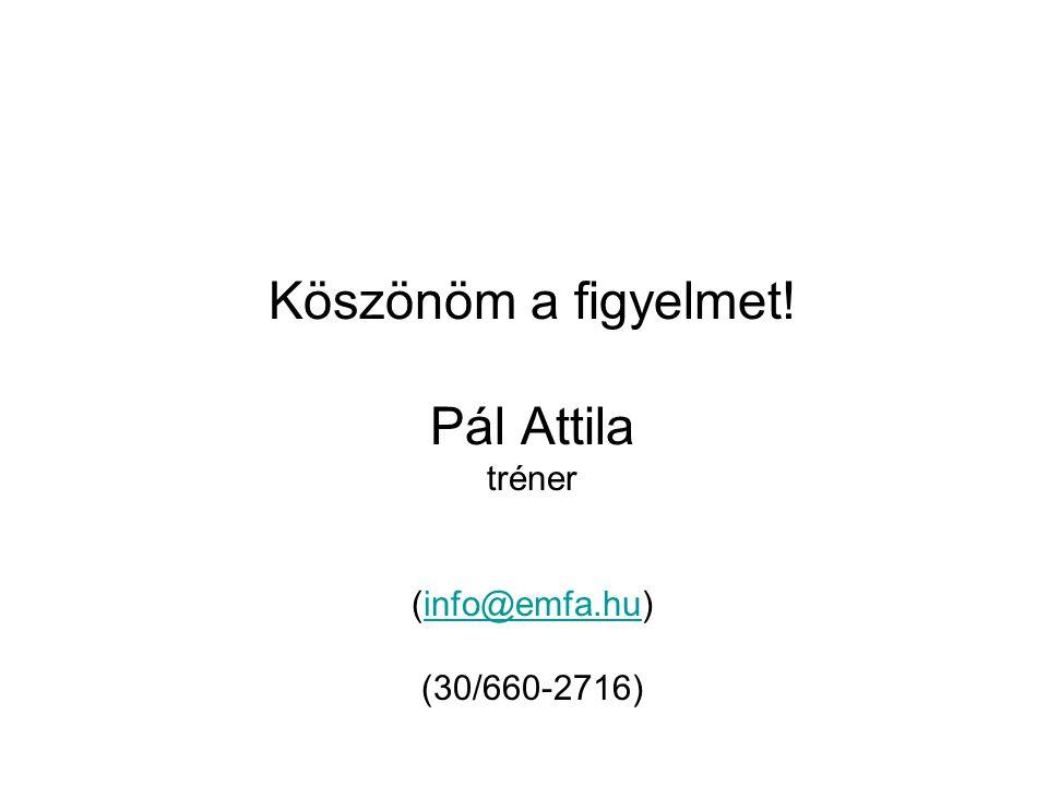 Köszönöm a figyelmet! Pál Attila tréner (info@emfa.hu) (30/660-2716)info@emfa.hu