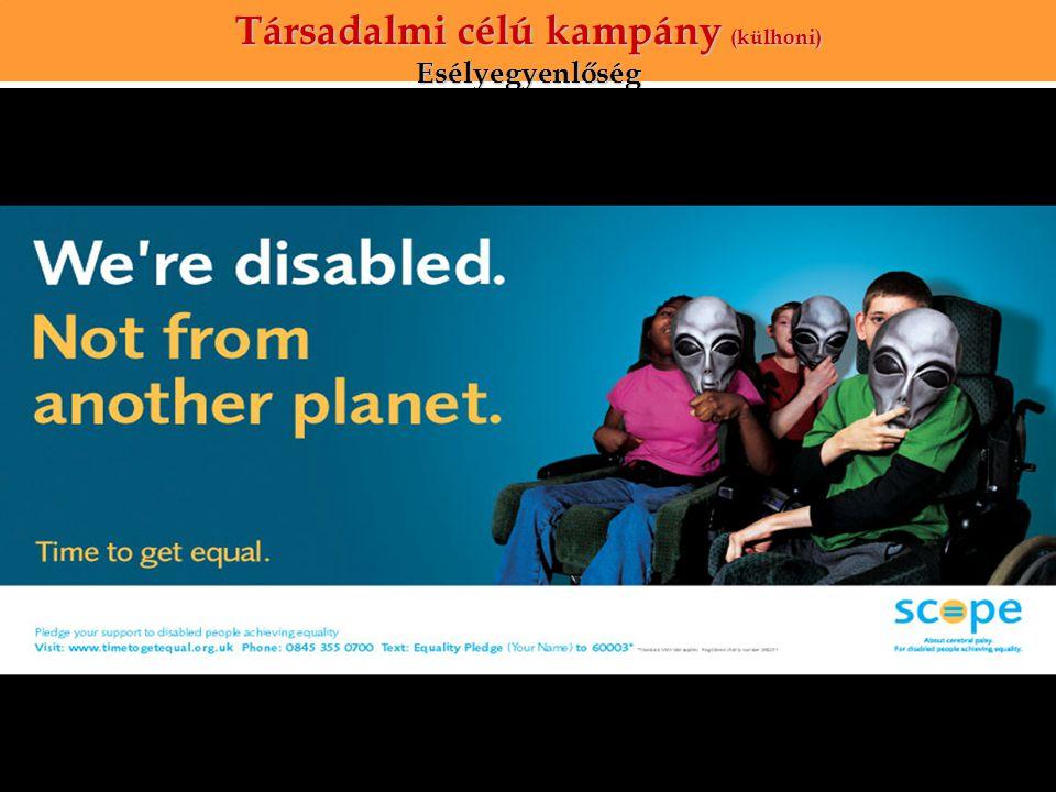 Társadalmi célú kampány (külhoni) Esélyegyenlőség