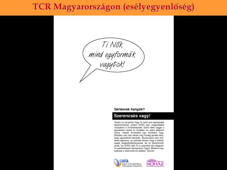 TCR Magyarországon (esélyegyenlőség)