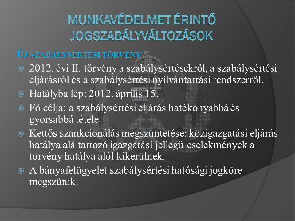 Ú J SZABÁLYSÉRTÉSI TÖRVÉNY  2012. évi II.