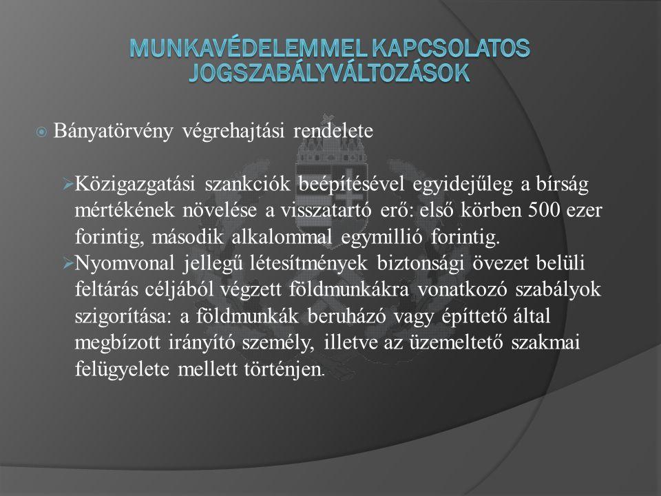  A polgári felhasználású robbanóanyagok forgalmazásáról és felügyeletéről szóló 191/2002.