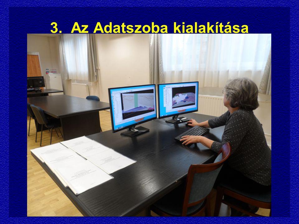 3.Az Adatszoba kialakítása 1. Az Adatszoba kijelölése és berendezése 2.